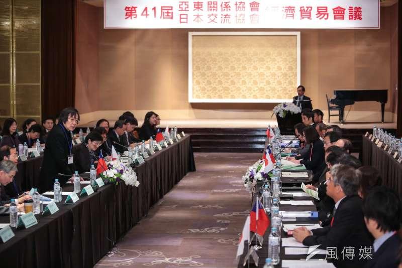 20161129-亞東關係協會會長邱義仁29日出席「台日經濟貿易會議」。(顏麟宇攝)