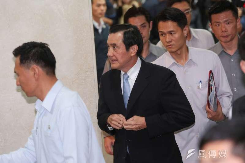 20161201-前總統馬英九1日至北檢接受訊問。(顏麟宇攝)
