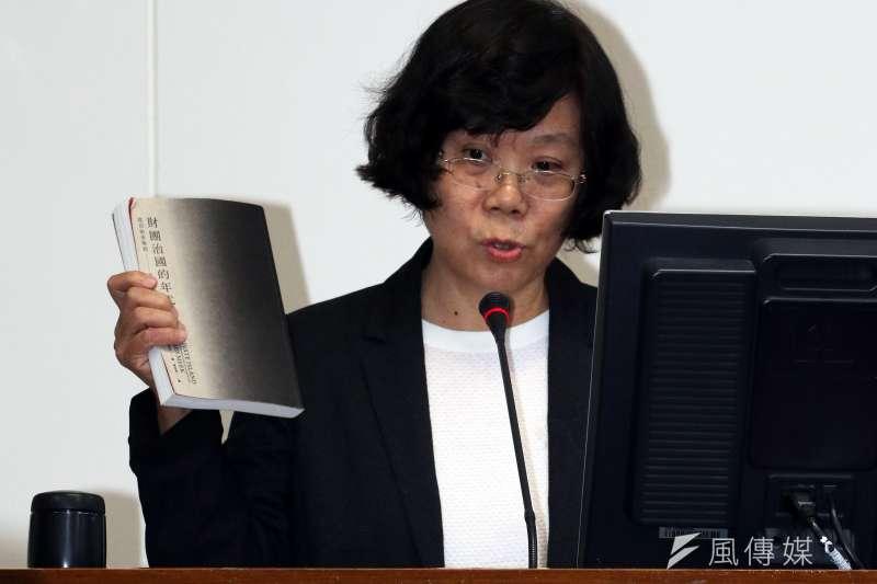 臺灣大學經濟系教授鄭秀玲出席立法院電業法公聽會。(蘇仲泓攝)