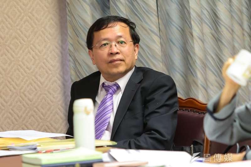 陸委會副主委張天欽5日於立院內政委員會備詢。(顏麟宇攝)