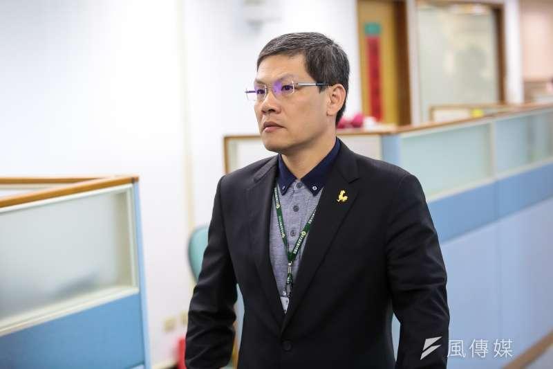 20161207-民進黨主席特助魏金標7日出席民進黨中常會。(顏麟宇攝)