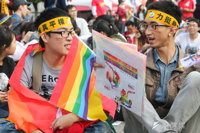 同性婚姻平權民法修正案目前在立法院司法委員會,總統蔡英文是否力挺,是該法能否三讀的關鍵。(資料照片,陳明仁攝)