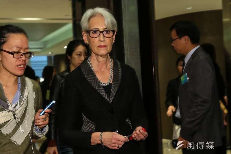 美國國務院前政治事務次卿雪蔓(Wendy Sherman)來台,14日出席「台美日暨亞太區域夥伴安全對話研討會」。(顏麟宇攝)