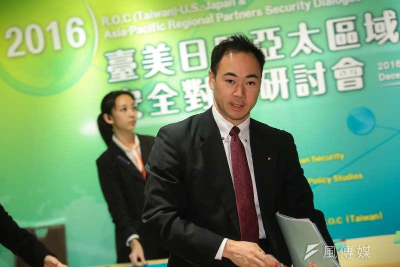 20161214-日本眾議員鈴木馨祐(Keisuke Suzuki)14日出席「臺美日暨亞太區域夥伴安全對話研討會」。(顏麟宇攝)