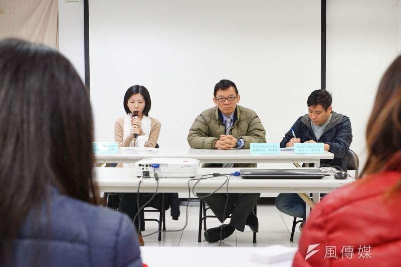 台灣愛滋感染者受侵權現況調查記者會。(盧逸峰攝)