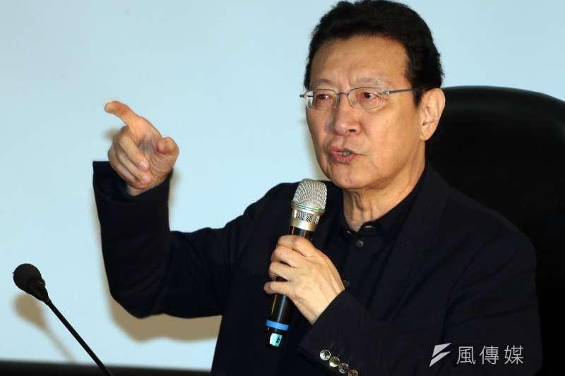 外傳趙少康主持的政論節目《少康戰情室》受到高層施壓,要求支持韓國瑜,但TVBS今日發聲明否認。(蘇仲泓攝)