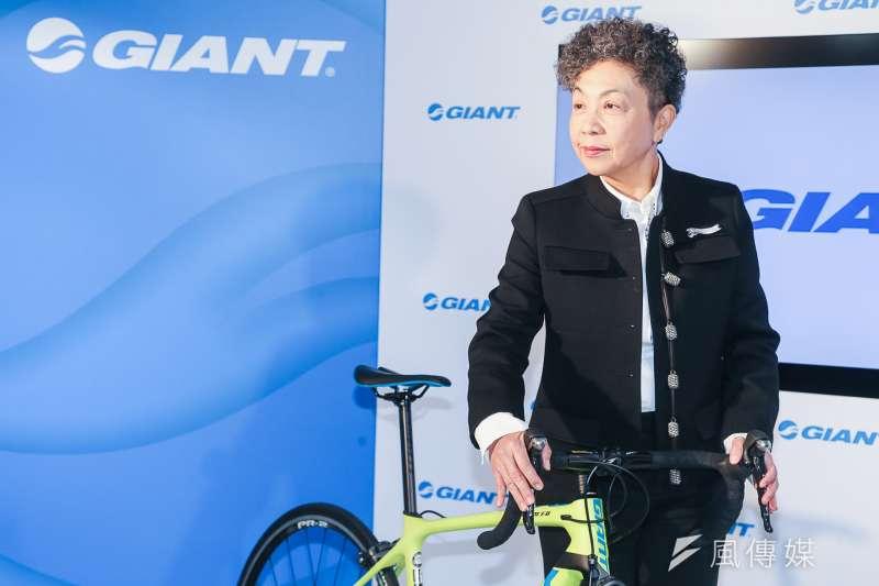歐盟對中國大陸出口電動自行車加徵反傾銷稅,台商巨大表示,公司主要由台灣將車銷往歐洲,受影響程度不高。圖為巨大董事長杜綉珍。(資料照,陳明仁攝)