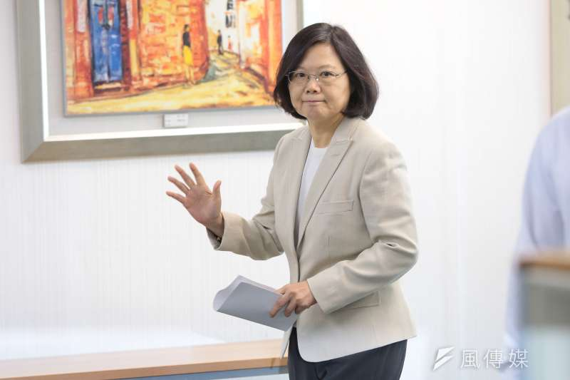 20161221-總統蔡英文21日出席民進黨中常會。(顏麟宇攝)