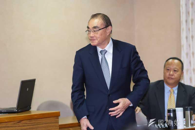 20161222-國防部長馮世寬22日於立院國防委員會備詢。(顏麟宇攝)