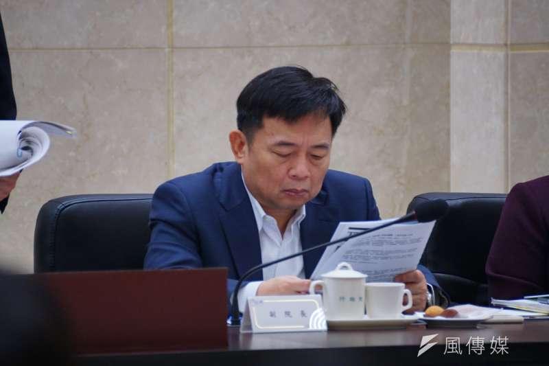 20161223-監察院院長張博雅率全體監委巡察行政院會議,行政院副院長林錫耀。(盧逸峰攝)