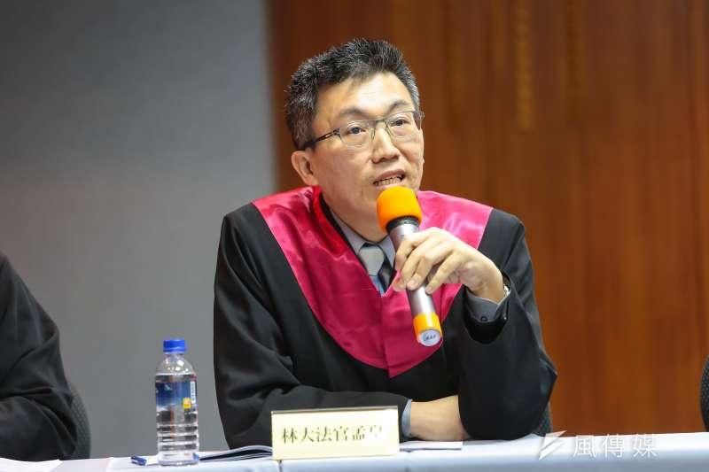 20161224-律師林孟皇24日出席模擬憲法法庭宣判記者會,並於模擬憲法法庭擔任大法官。(顏麟宇攝)