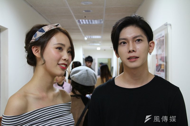 擔任模特兒的林小蕎與庄司裕介分享,在活動中能夠找到自己的風格、建立自信。(圖/陳彥傑攝)