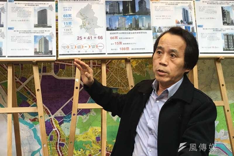 台北市副市長林欽榮認為,都更條例草案規定都更要有2分之1私有地主同意,是閹割政府權力。(資料照,王彥喬攝)