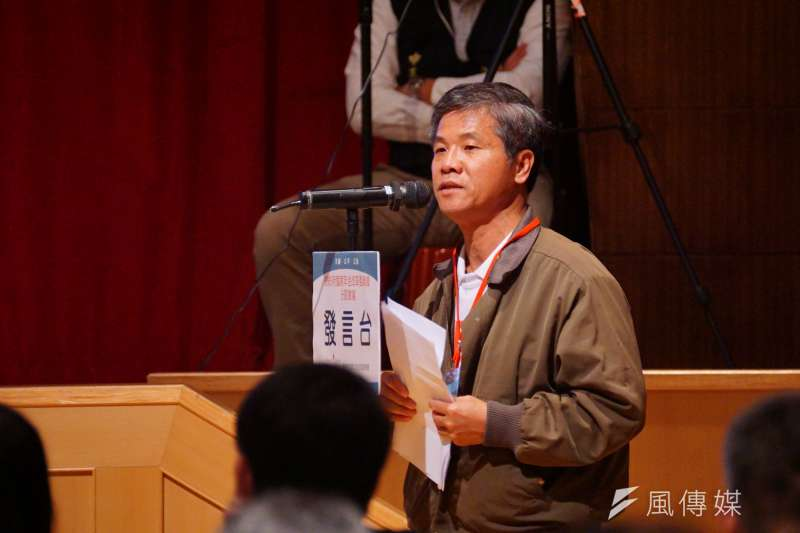 20161231-年金改革國是會議北區會議,年金孤兒協會副總幹事吳耀文發言。(盧逸峰攝)