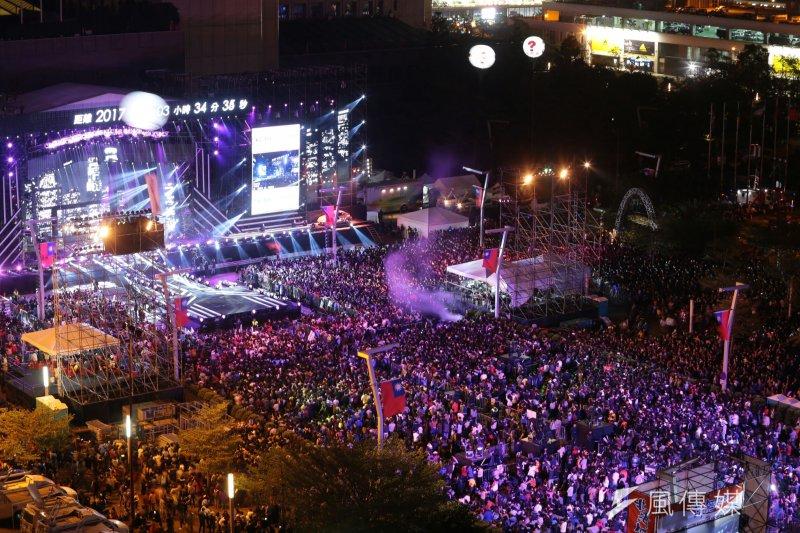 2016-12-31台北2017跨年演唱會,101。(顏麟宇攝)