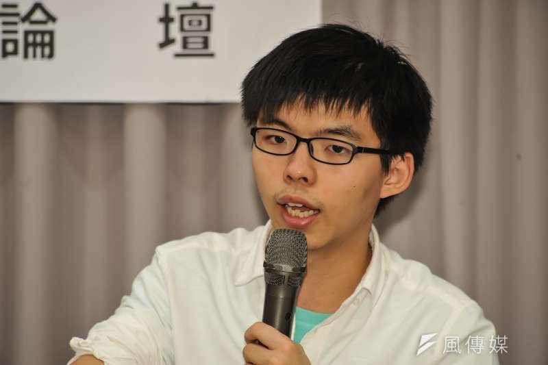 香港新生代政治領袖黃之鋒。(甘岱民攝)