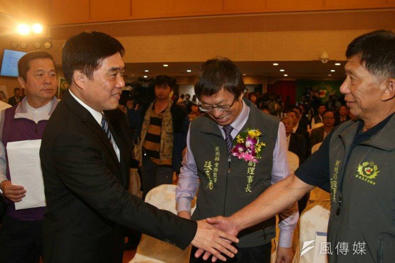 國民黨主席洪秀柱、副主席郝龍斌8日出席中華民國清溪總會會員代表大會(陳明仁攝)