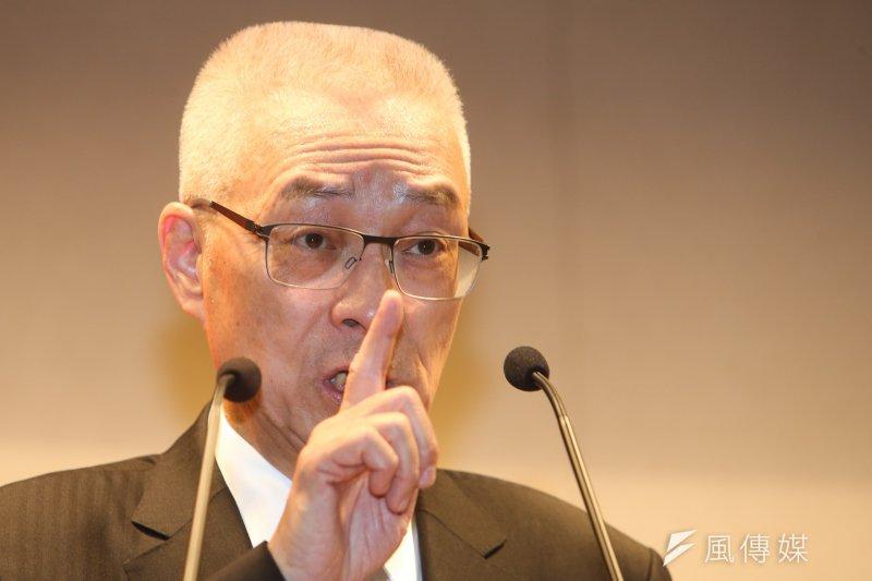 前副總統吳敦義參選國民黨黨主席記者會,不免被問到是否放眼2020總統大選。(陳明仁攝)
