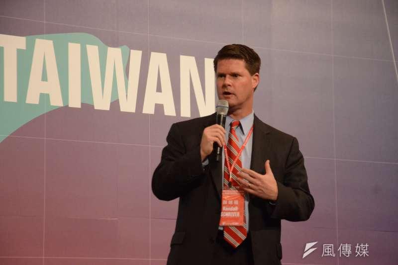2014年薛瑞福出席新台灣國策智庫國際研討會。(宋小海攝)