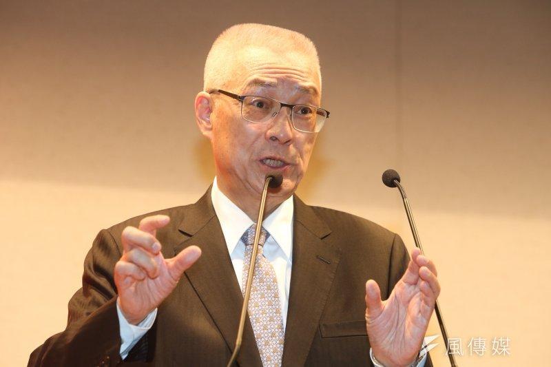 前副總統吳敦義宣佈參選黨主席。(陳明仁攝)