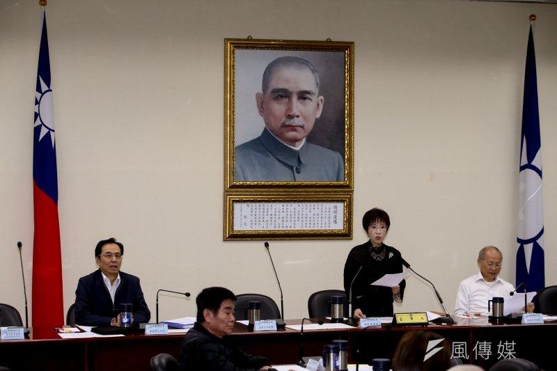 國民黨首席副主席詹啟賢不滿黨中央放話而請辭,也讓11日的中常會上,留下一席空位。(陳明仁攝)
