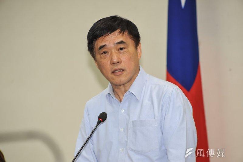 20160111-國民黨副主席郝龍斌出席黨代表座談會。(甘岱民攝)