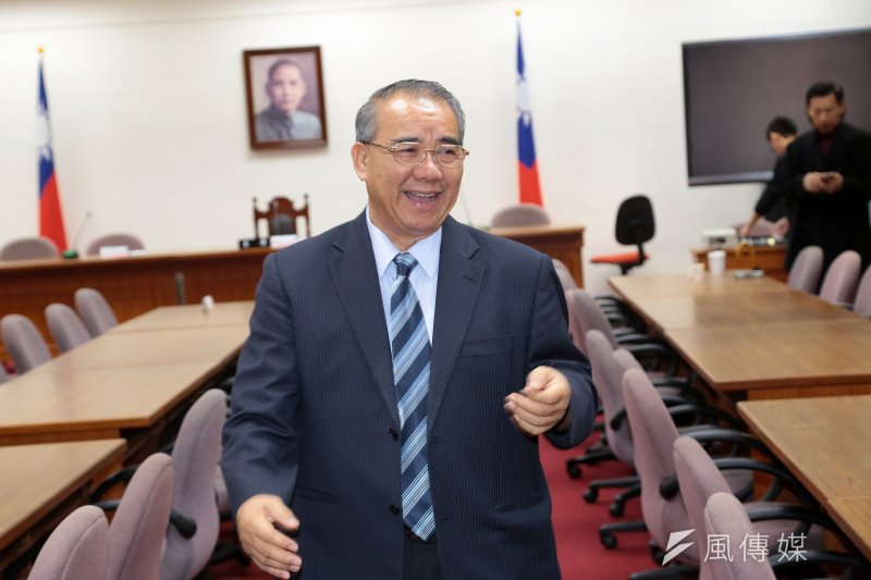 國民黨總召廖國棟13日出席國民黨團大會。(顏麟宇攝)