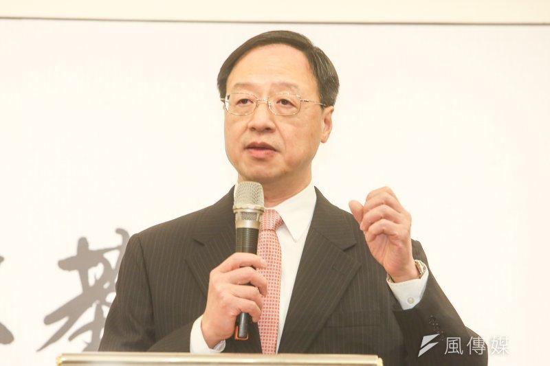 前行政院長江宜樺赴香港針對台灣民主進行演講,認為台灣的民主社會還「不成熟」。(陳明仁攝)