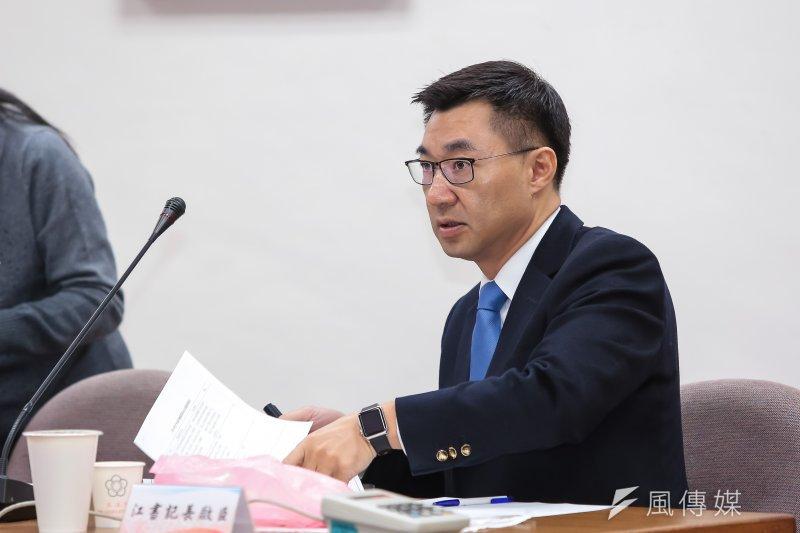 20170119-國民黨立委江啟臣19日出席國民黨團大會。(顏麟宇攝)