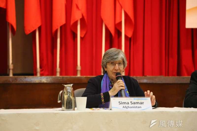 阿富汗獨立人權委員會主席薩瑪爾(Sima Samar)指出,國家人權委員會必須要獨立且多元。(石秀娟攝).jpg