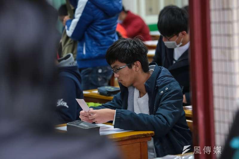 20170120-大學學測第一天應試。(顏麟宇攝)