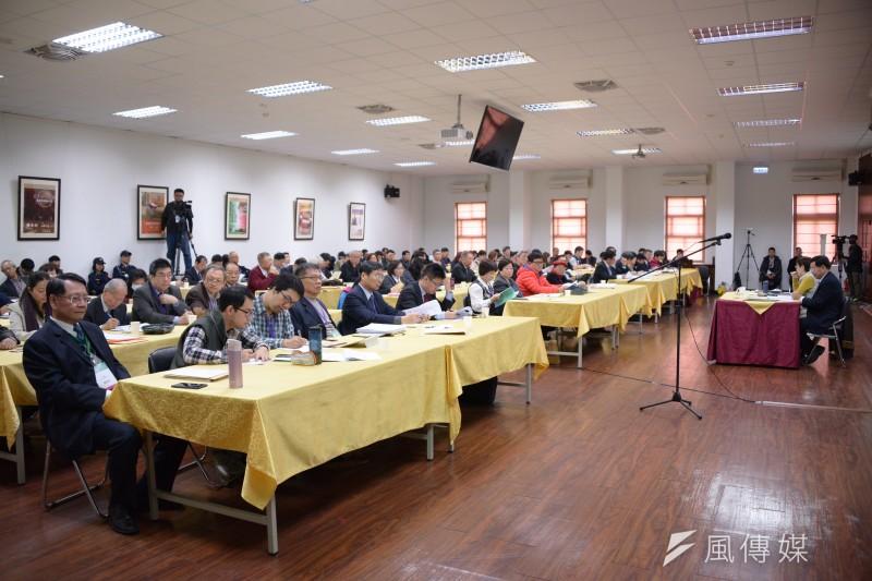 總統府年金改革國是會議22日登場,圖為第三分組會議現場。(總統府提供)