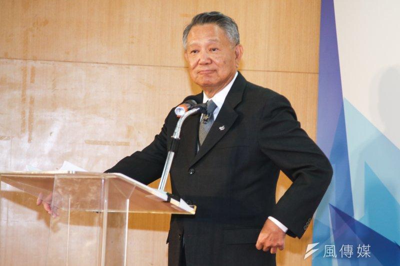 詹啟賢說,黨主席選舉一定要有第三種沒有包袱、沒有恩怨的人選,選後才能整合。(資料照,陳明仁攝)