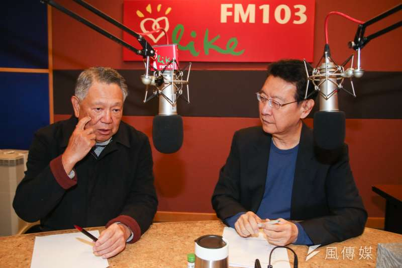 詹啟賢(左)24日接受廣播節目專訪時表示,黨主席有責任解決困境,也有責任帶領國民黨贏回政權。(陳明仁攝)