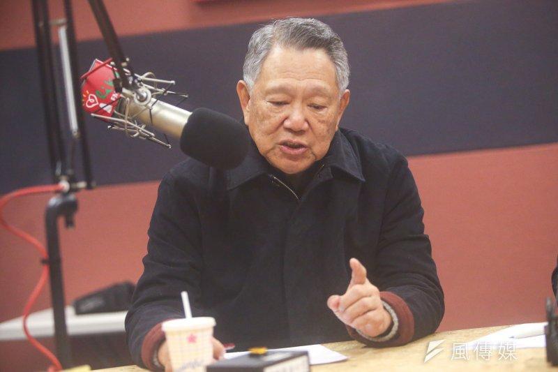 20170124-詹啟賢赴中廣接受「趙少康時間」錄音訪問.(陳明仁攝)