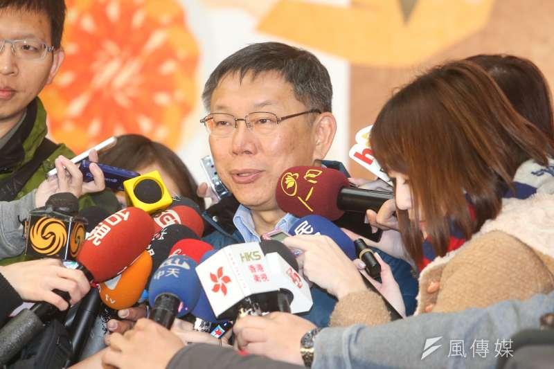根據《時報周刊》最新民調指出,可能的台北市長參選人中,柯文哲獲得24.2%支持度,大幅領先第二名的丁守中的12.4%。(資料照,陳明仁攝)
