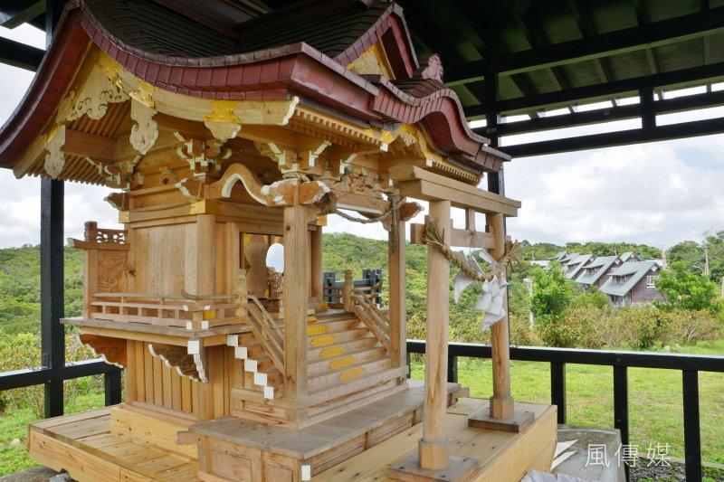 屏東高士部落高士神社建築。(盧逸峰攝)