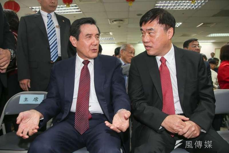 前台北市長馬英九(左)、郝龍斌結盟態勢明朗,從黨主席選舉再到2018年市議員選舉,兩人將有默契共推市議員參選人。(資料照,陳明仁攝)