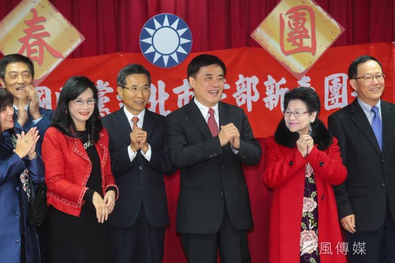 201700203-國民黨副主席郝龍斌3日出席國民黨台北市黨部新春團拜。(資料照,顏麟宇攝)