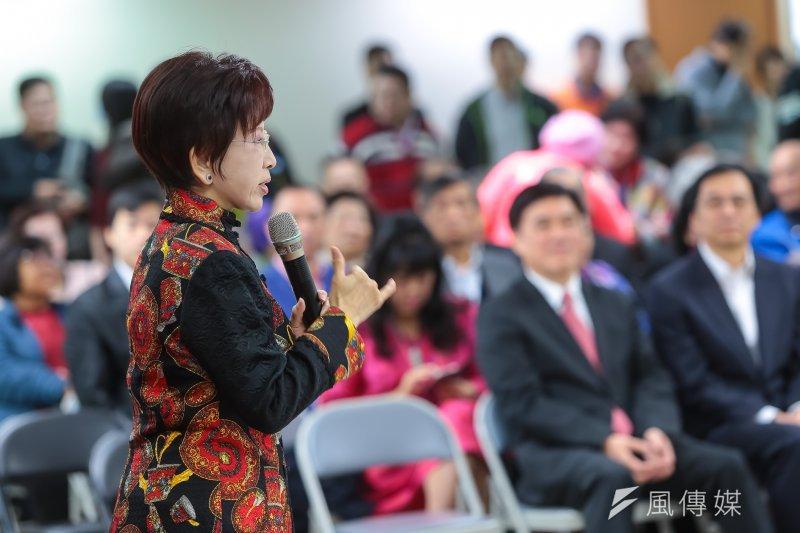 201700203-國民黨主席洪秀柱3日出席國民黨台北市黨部新春團拜。(顏麟宇攝)