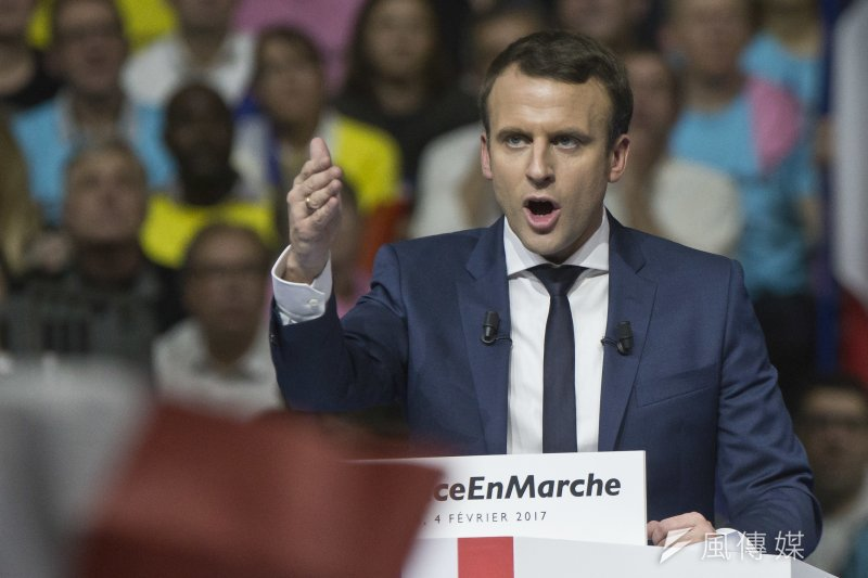 2017年法國總統大選,馬克宏(Emmanuel Macron)聲勢看漲(AP)