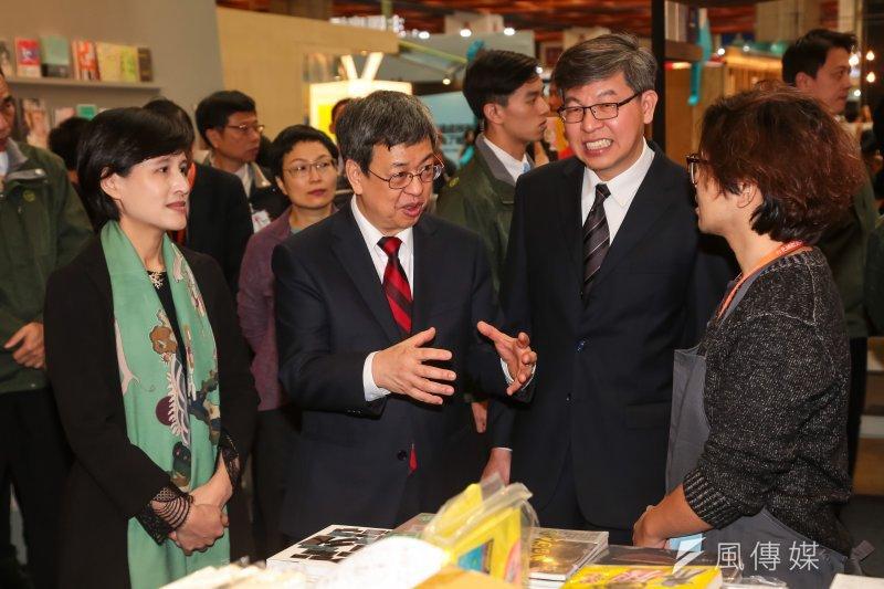 副總統陳建仁出席「第25屆台北國際書展」開幕記者會,很想念以前逛書店的時光。陳並表示,要使年金改革成功,台灣經濟要發展,過程中一定要追求公平正義。(顏麟宇攝)