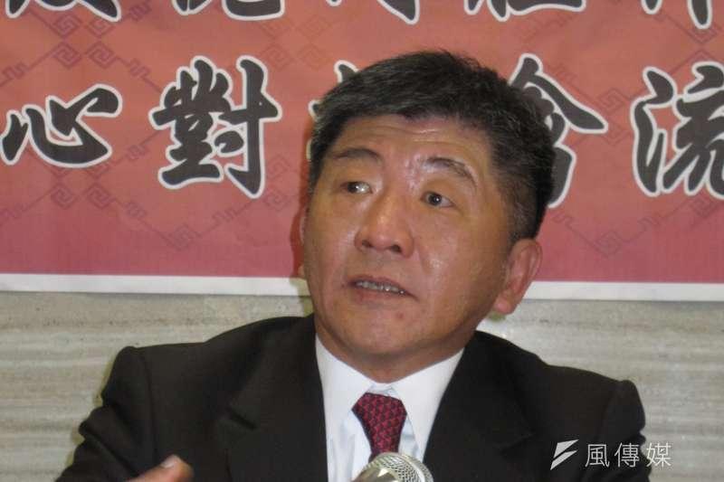 新任衛福部長陳時中立即主持防疫記者會,宣示防疫視同作戰,將率國人齊心對抗禽流感。(黃天如攝)