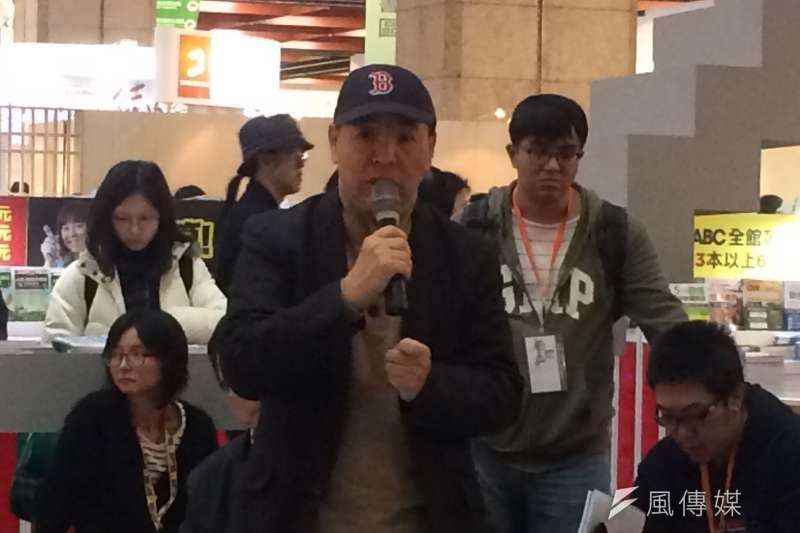 20170209-台北國際書展,中國民運人士汪岷。(石秀娟攝)