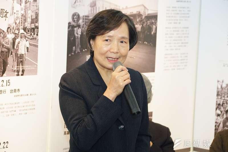 行政院核定將每年的4月7日訂為言論自由日,鄭南榕遺孀又菊蘭表示,感謝台灣人民與年輕世代的覺醒,歷史的定位終於還給鄭南榕公道。(資料照,盧逸峰攝)