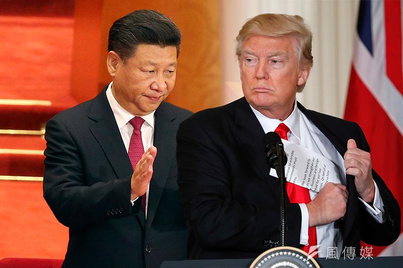 美國總統川普與中國國家主席習近平(左)(照片:美聯社/風傳媒合成)
