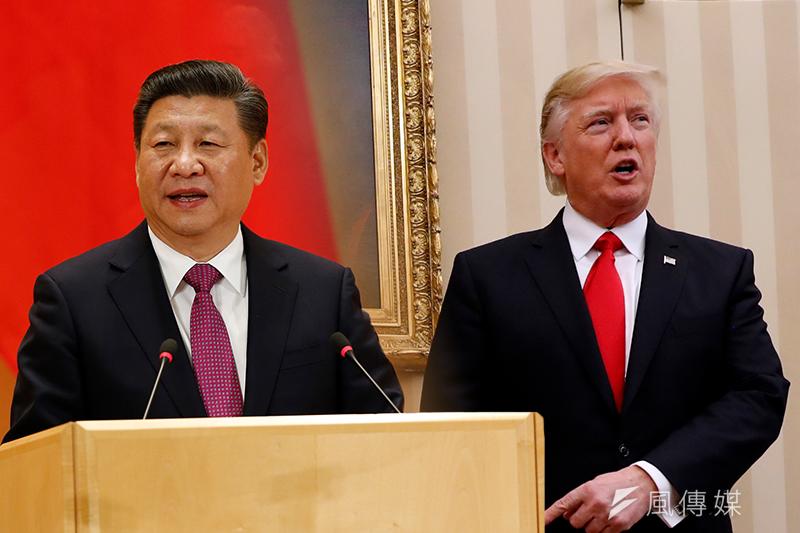 隨著美中兩國經濟實力的消長, 「修昔底德陷阱」所描述的霸權的轉移,極大可能伴隨著一場戰爭。圖為美國總統川普(右)與中國國家主席習近平(左)(風傳媒合成)