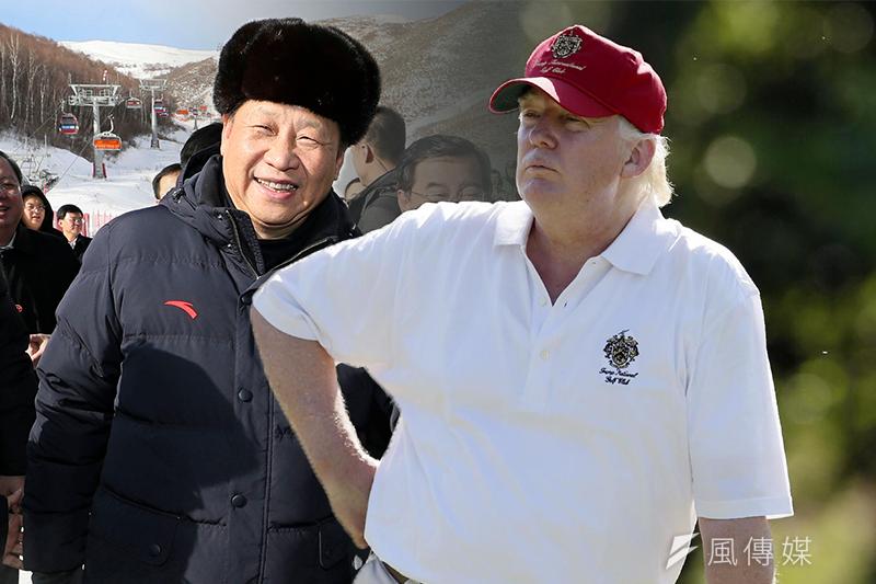 美國總統川普(AP)與中國國家主席習近平(AP)(風傳媒合成)