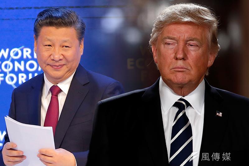 美國總統川普與中國國家主席習近平(左)將於4月6日至7日會面(照片:美聯社/風傳媒合成)