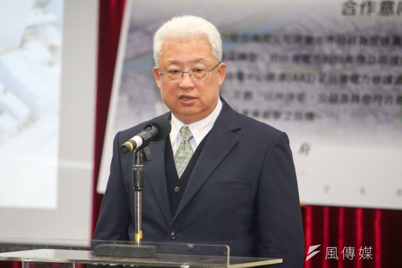台電23日舉行董事會,圖為董事長朱文成。(資料照片,陳明仁攝)